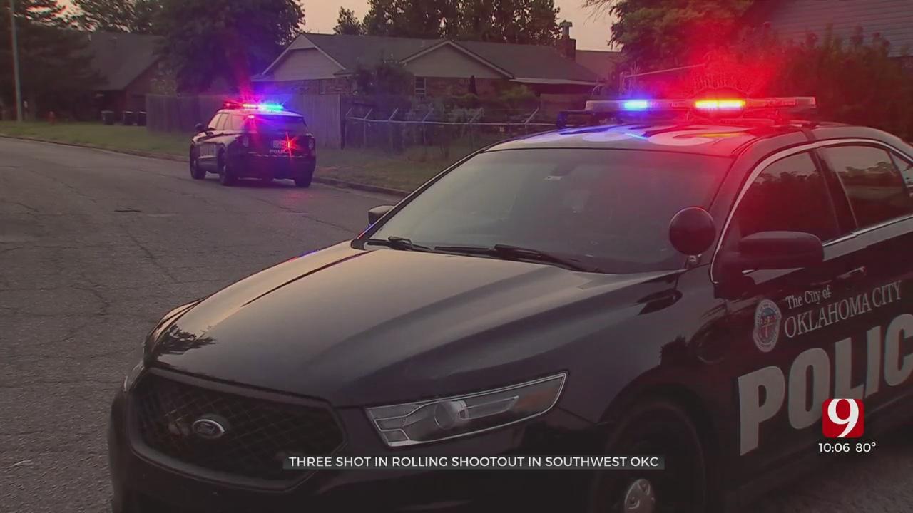 Three Shot In Shootout In Southwest OKC