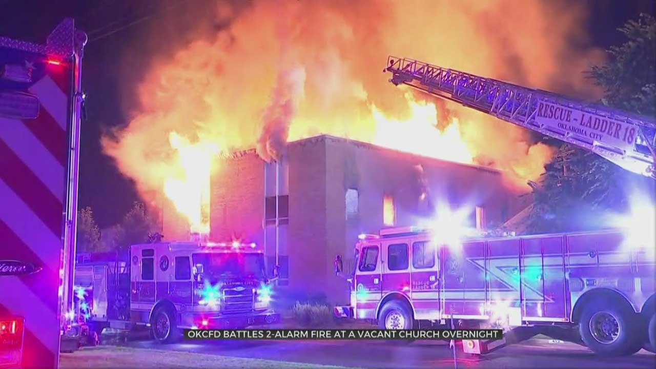 OKC Firefighters Investigate Overnight Church Fire