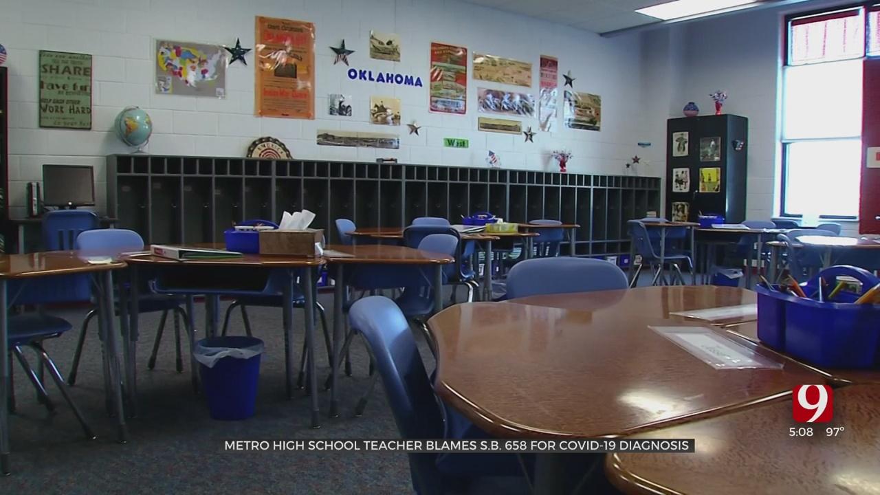 Teacher Blames Oklahoma Lawmakers As COVID's Delta Variant Spreads In Schools