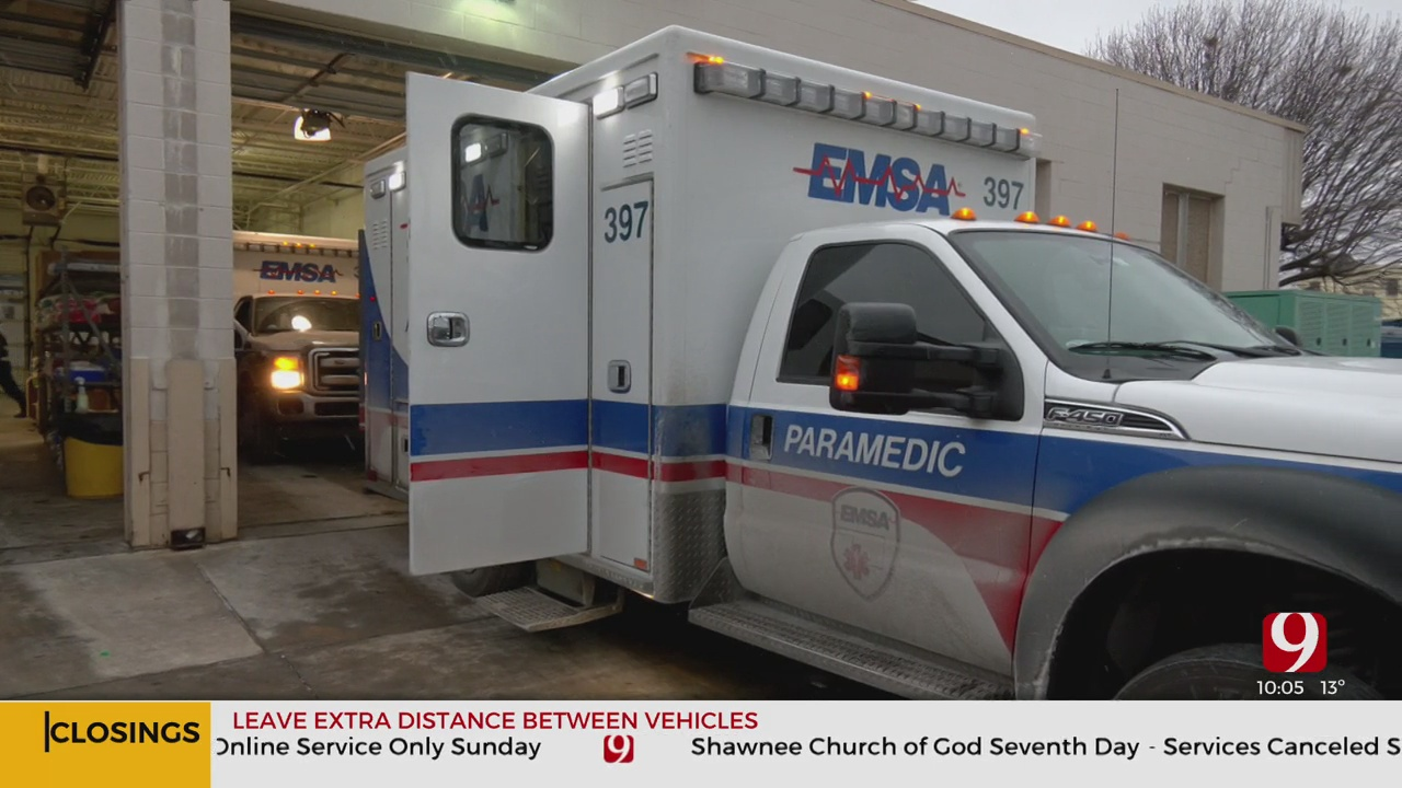 EMSA Fully Staffed Ahead Of Major Snowstorm, Drivers Asked To Stay Home