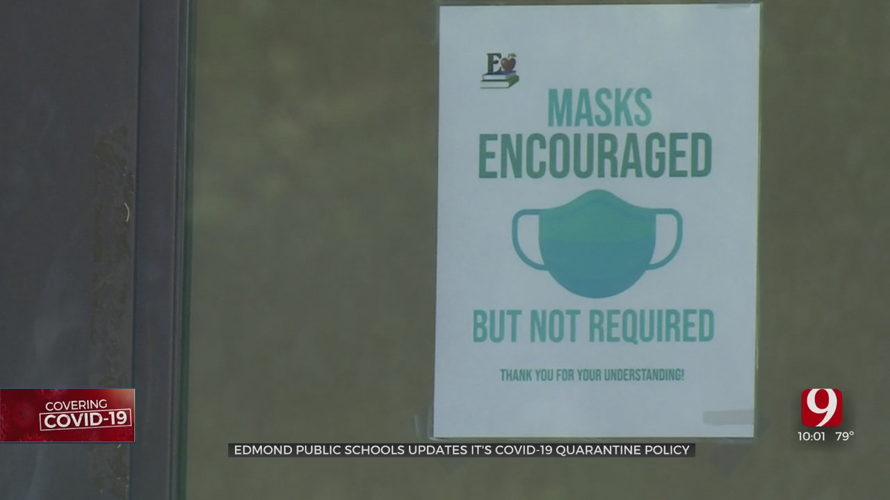 Edmond Public Schools Changes Protocol, Will Require Quarantines After COVID Exposures