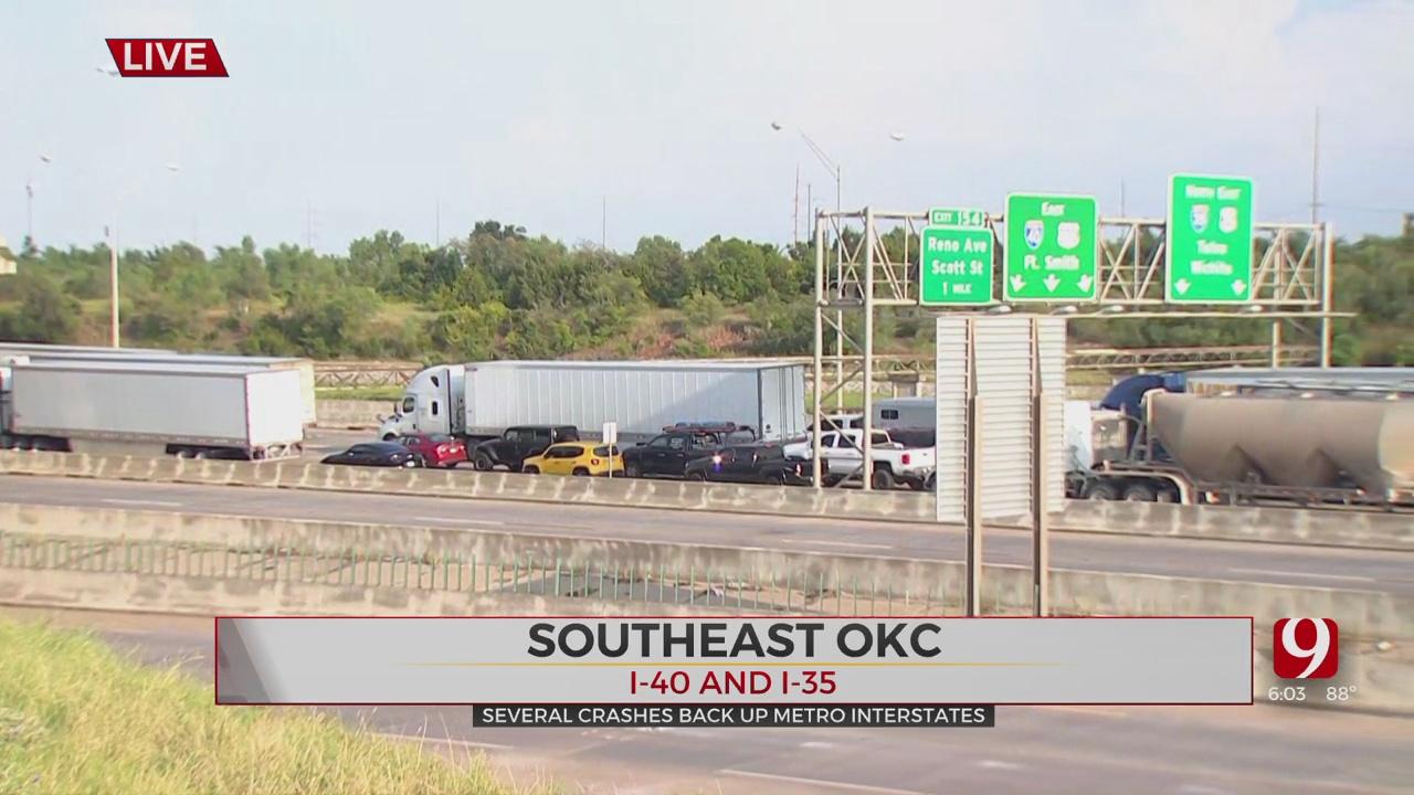 Several Crashes Back Up Metro Interstates