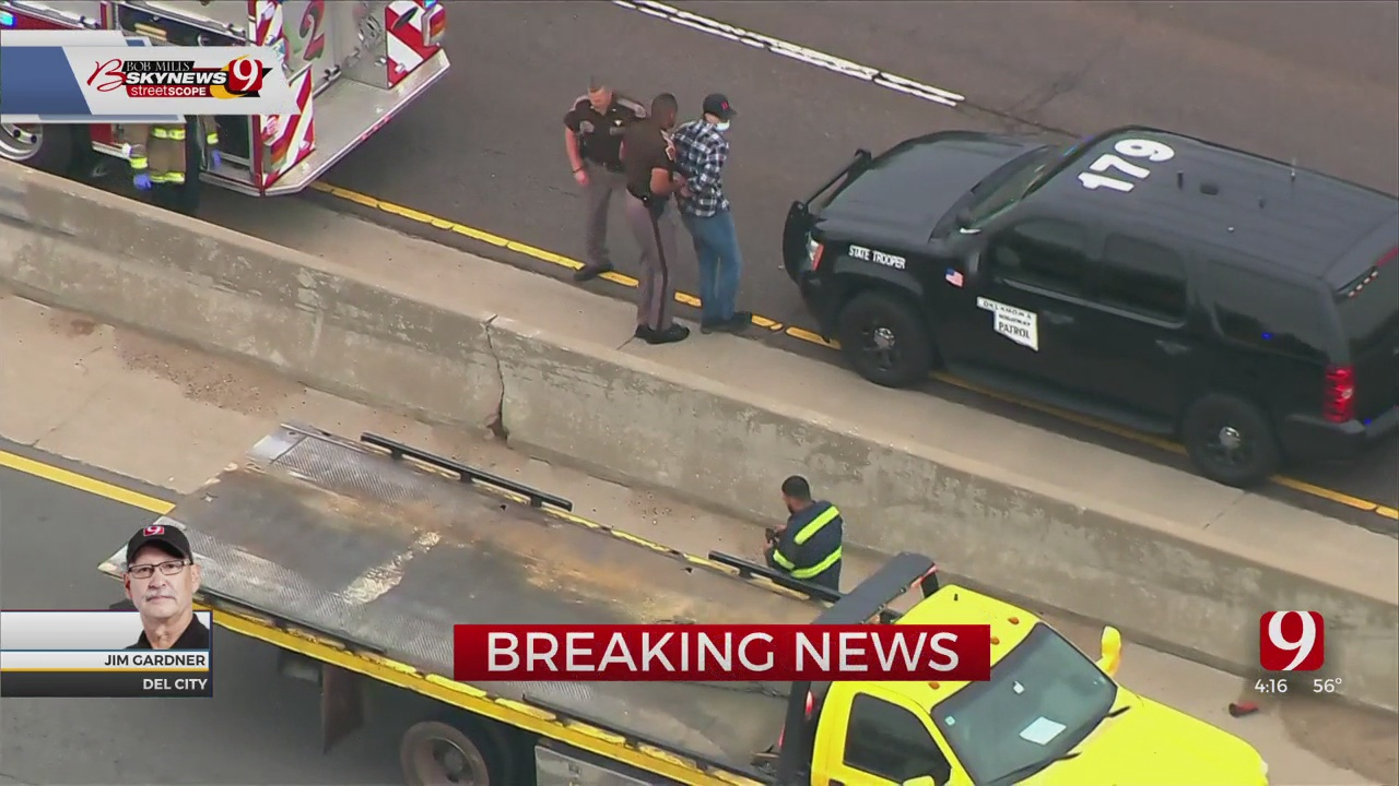 1 Detained After Vehicle Stalls On I-40 In SE OKC Which Caused A Traffic Backup