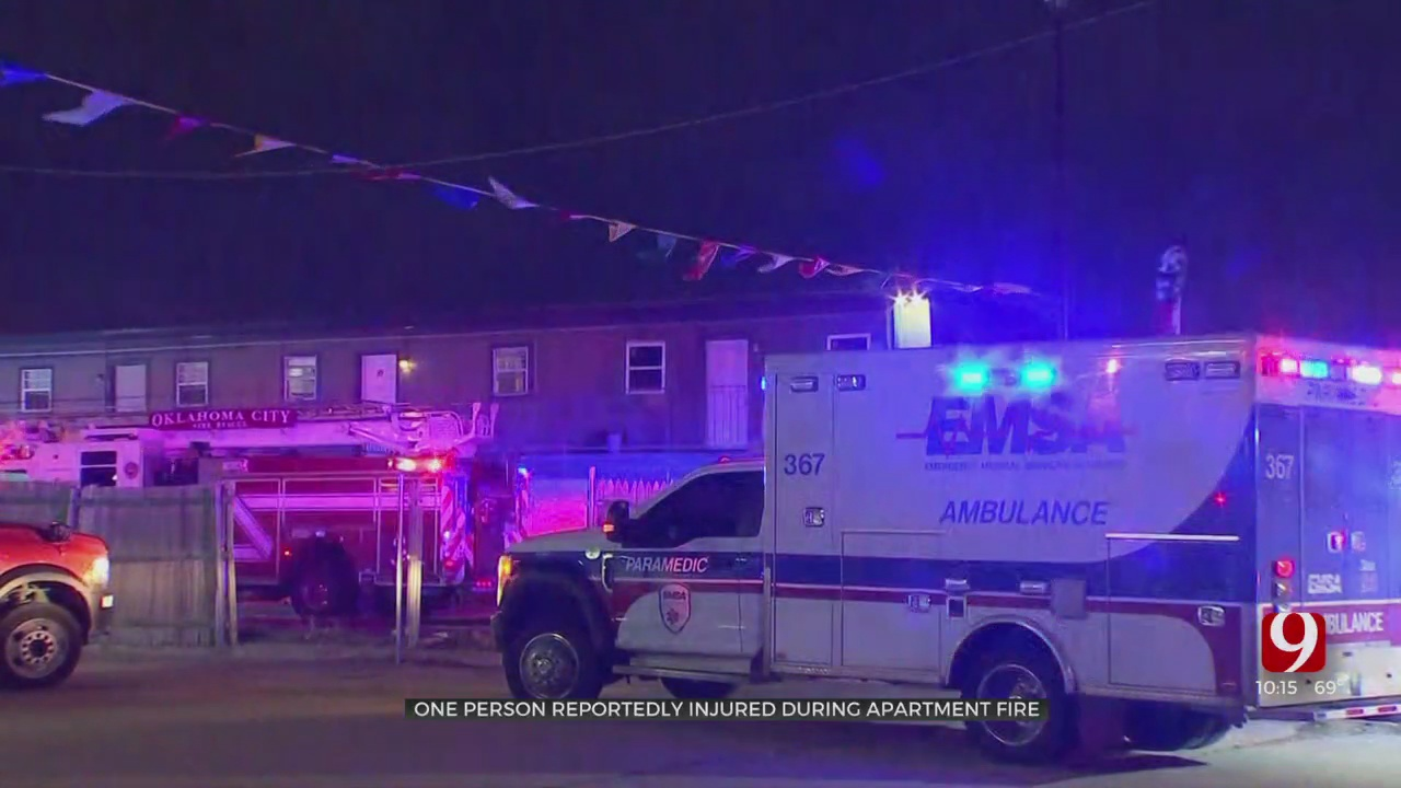 Man Falls Asleep, Wakes Up To Fire Inside NW OKC Apartment