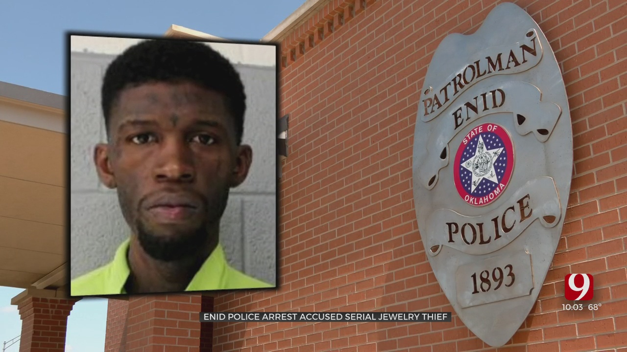 Enid Police Arrest Suspected Jewelry Thief Connected To 23 Robberies In Oklahoma, Texas