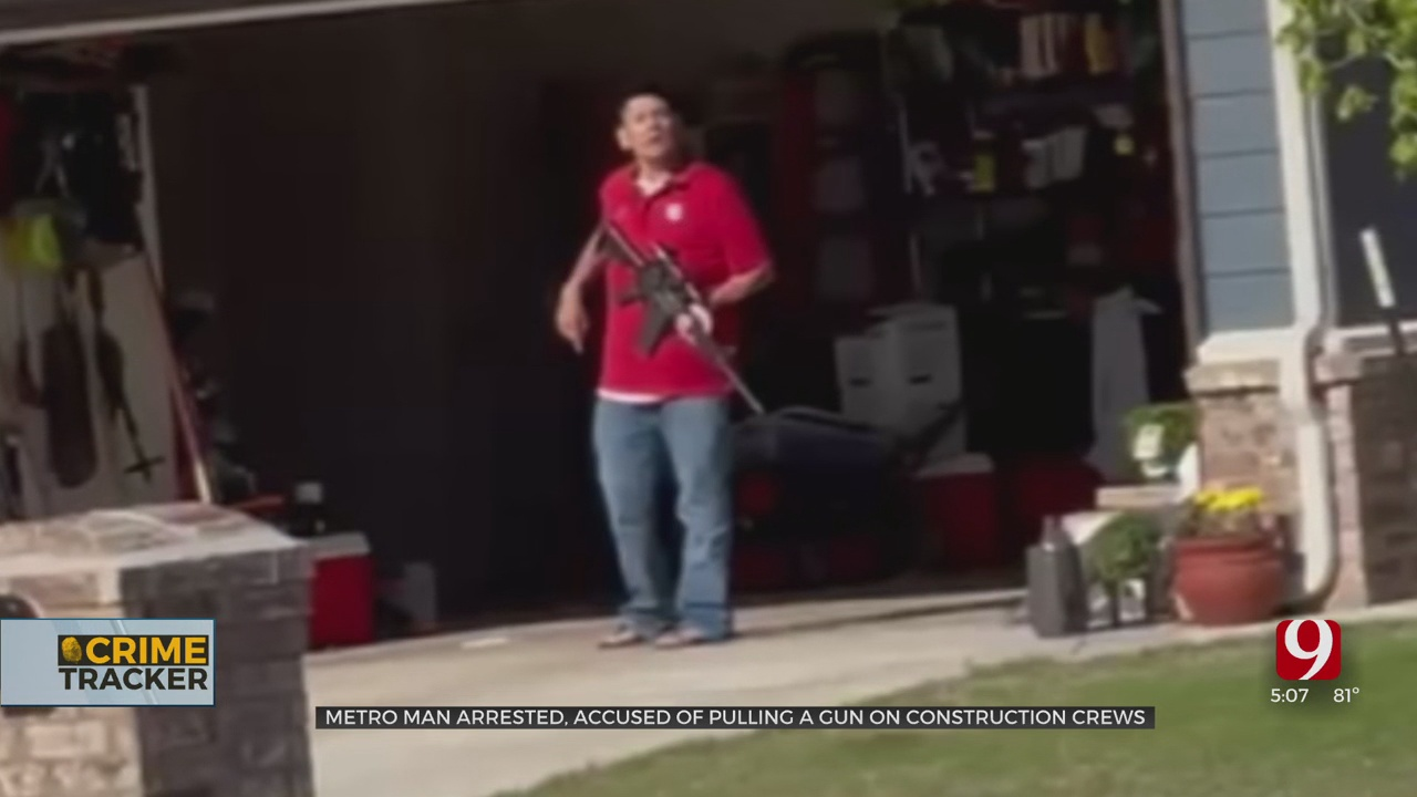 OKC Man Caught On Camera, Accused Of Pointing An AR-15 At Construction Crews