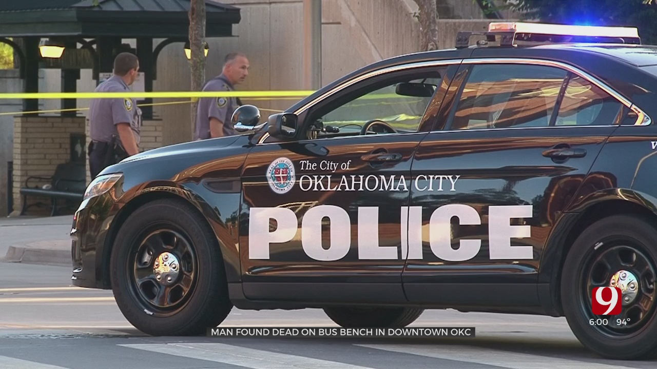 Police Find Body On Bus Bench In Downtown OKC