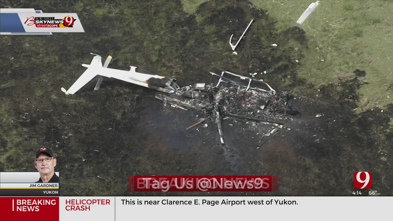 OKC Fire Department Provide Information About Helicopter Crash In NW OKC Near Yukon