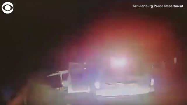 WATCH: Police Cruiser Was Hit While Officers Were Responding To Another Crash In Texas
