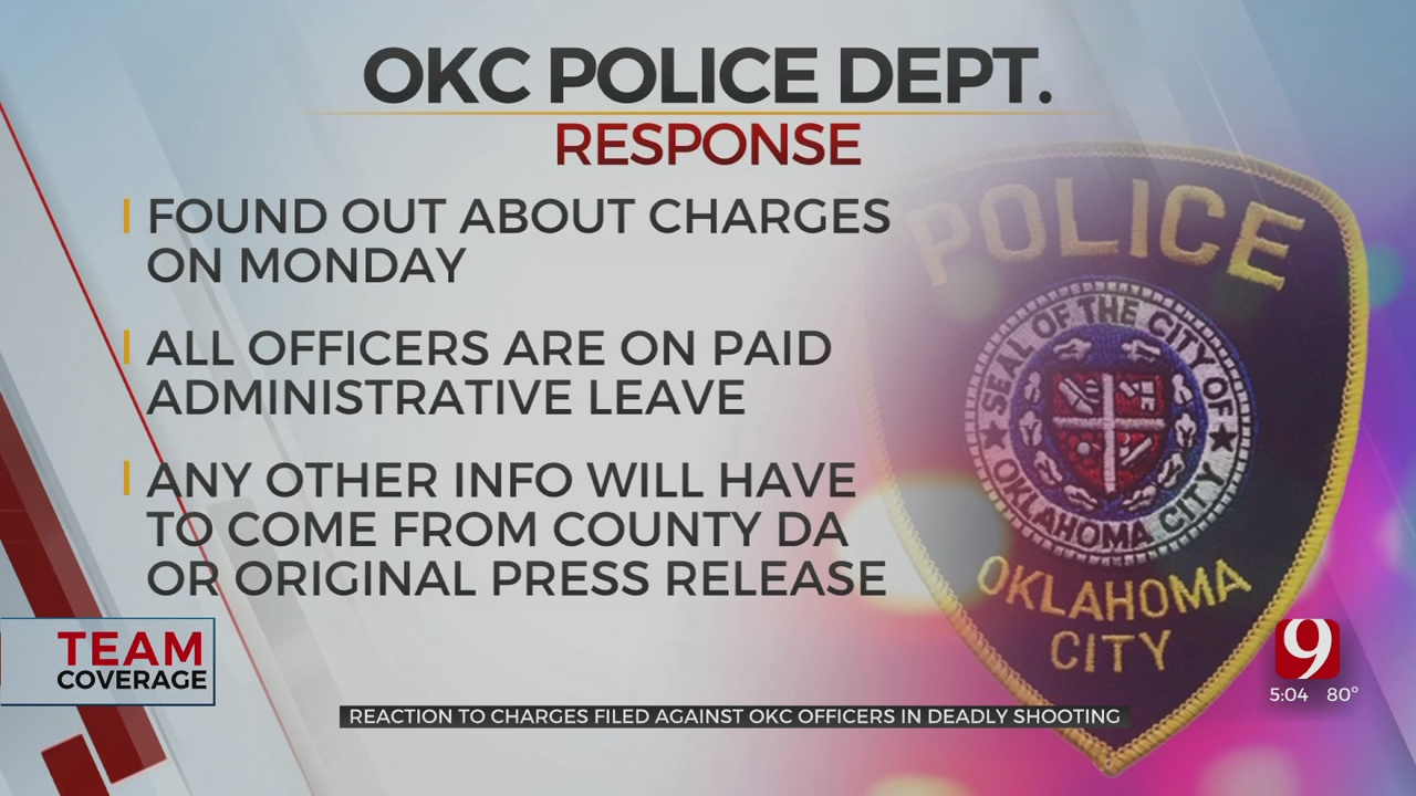 Police Leaders, Rodriguez's Mother React To Charges Filed Against OKC Police Officers