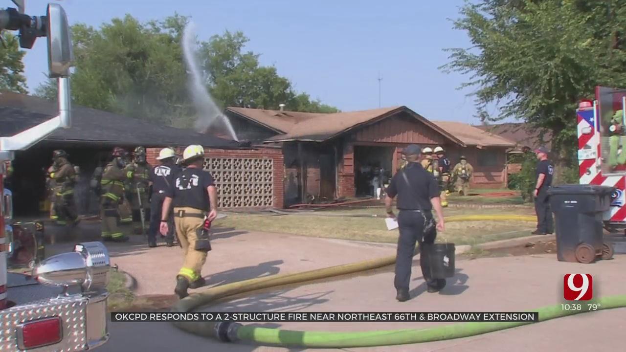 OKCFD Extinguish 2 Building Fire In OKC