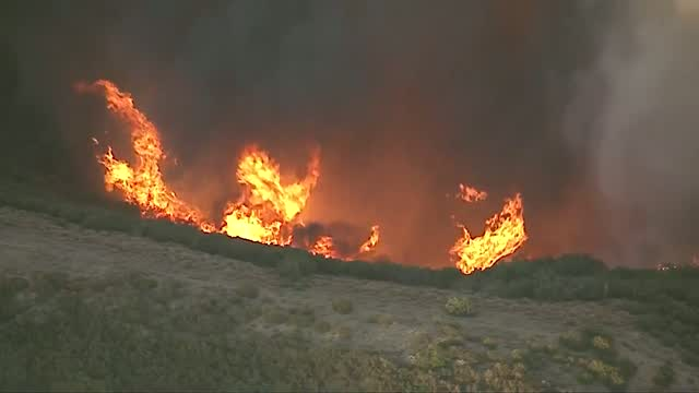 Wildfire Explodes North Of Los Angeles, Prompting Evacuation Orders