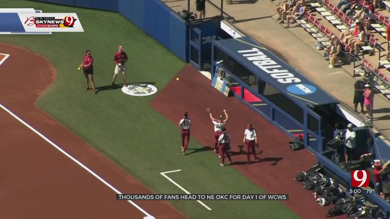 Thousands Of Fans Head To OKC For Women's College World Series