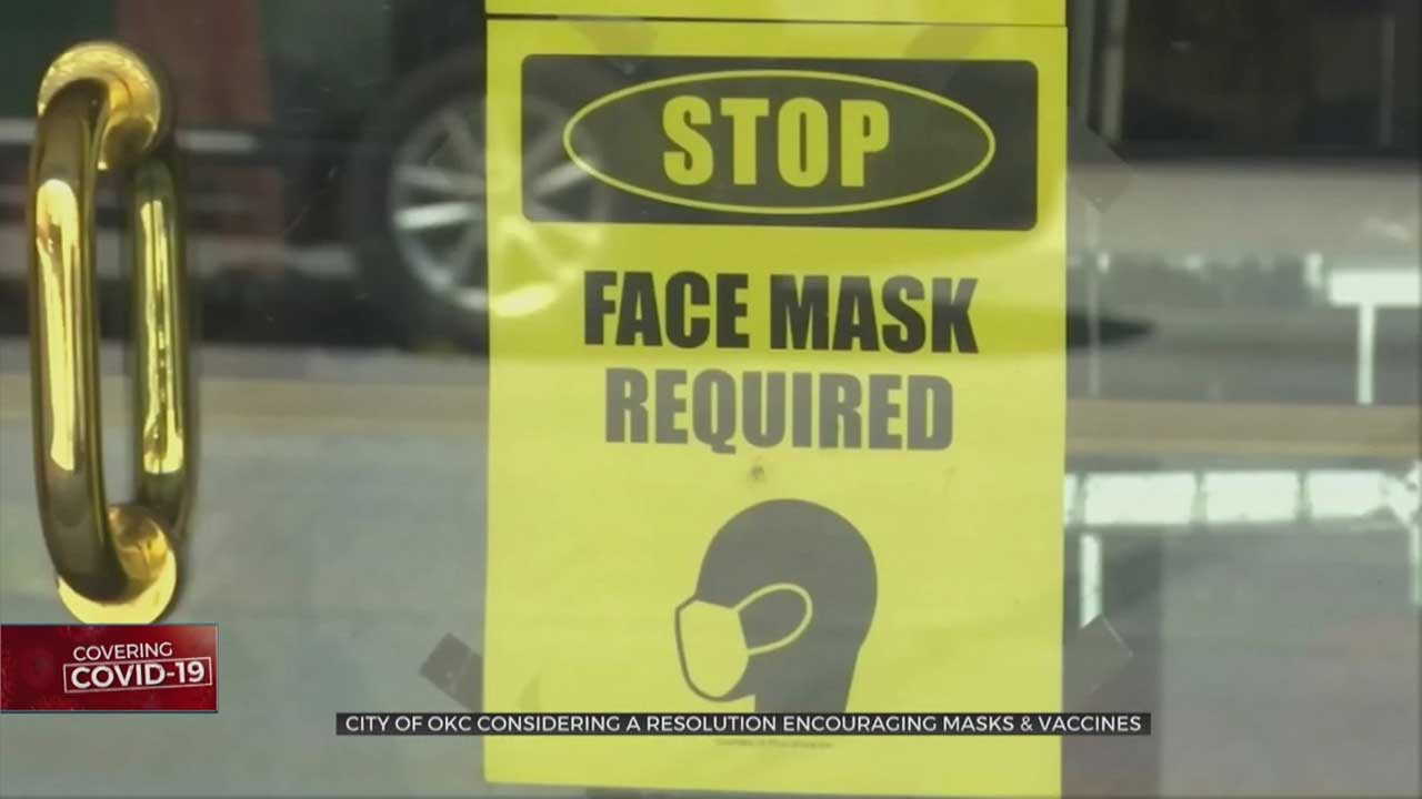 OKC City Council To Consider A Resolution To Encourage Masks & Vaccines