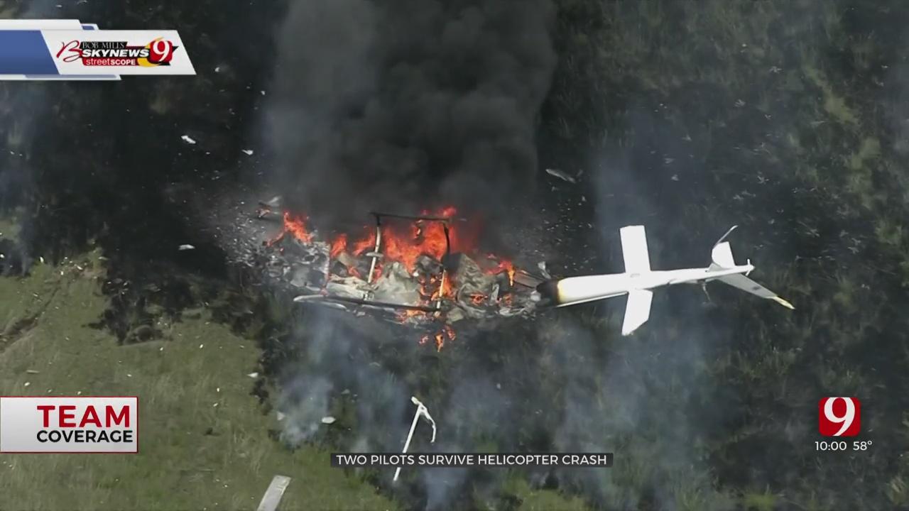 2 Pilots Survive Fiery Helicopter Crash Near Yukon