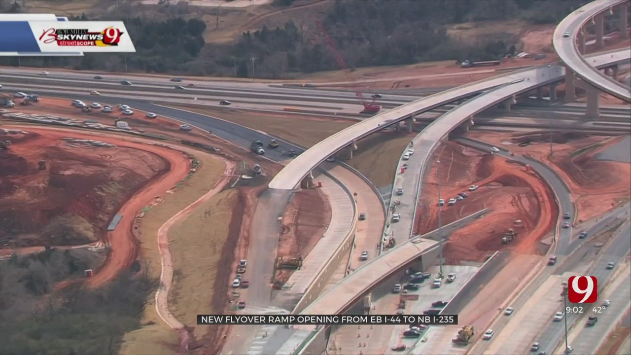 Off Broadway Project Reaches Milestone As Flyover Ramp Opens From EB I-44 To NB I-235