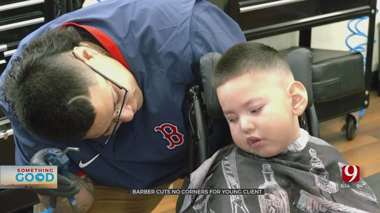 OKC Barber Helps Out, Community Steps Up To Help 3-Year-Old With Cerebral Palsy Get Haircuts
