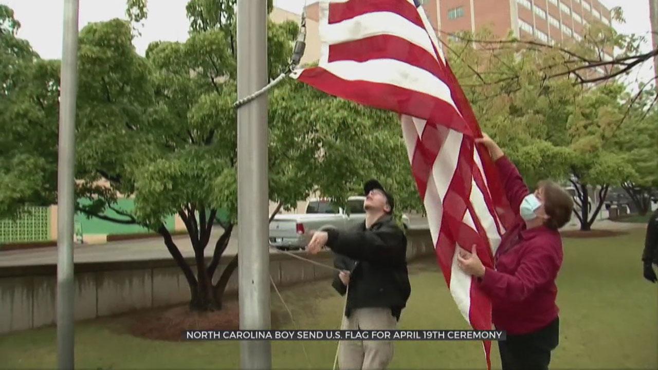 North Carolina Boy Sends US Flag To OKC For April 19th Remembrance Ceremony