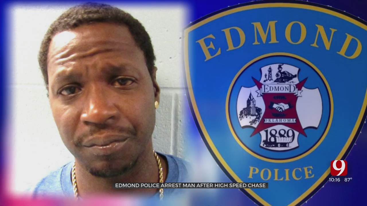 Caught On Camera: Edmond Police Arrest Man After High-Speed Chase