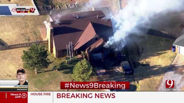 Fire Crews Battle Piedmont House Fire