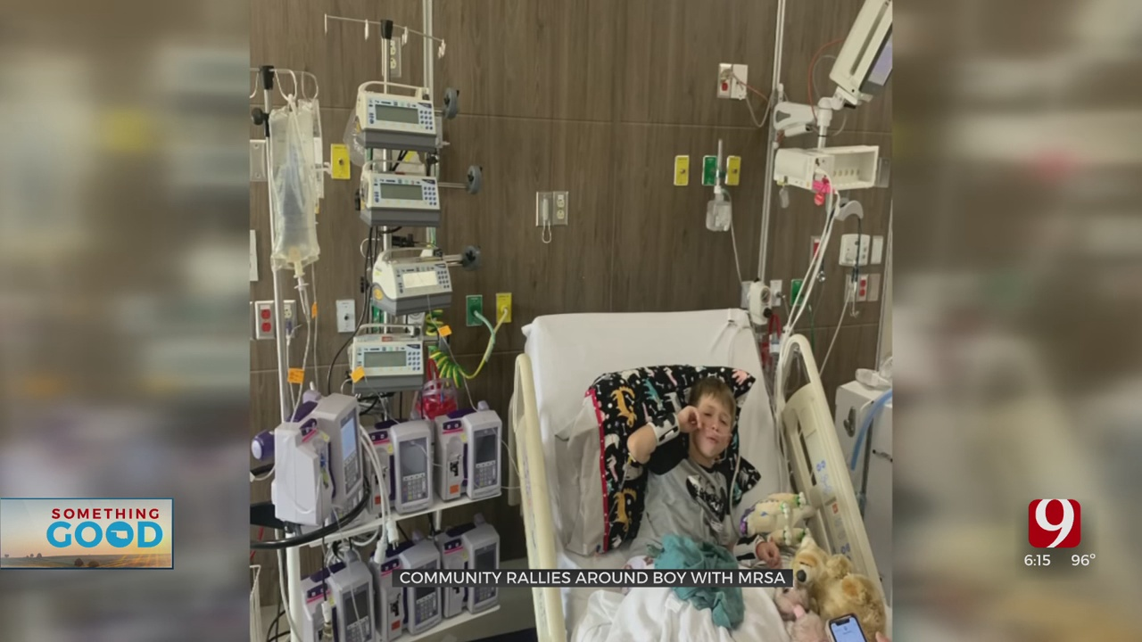Mustang Community Rallies Behind 7-Year-Old Boy With MRSA