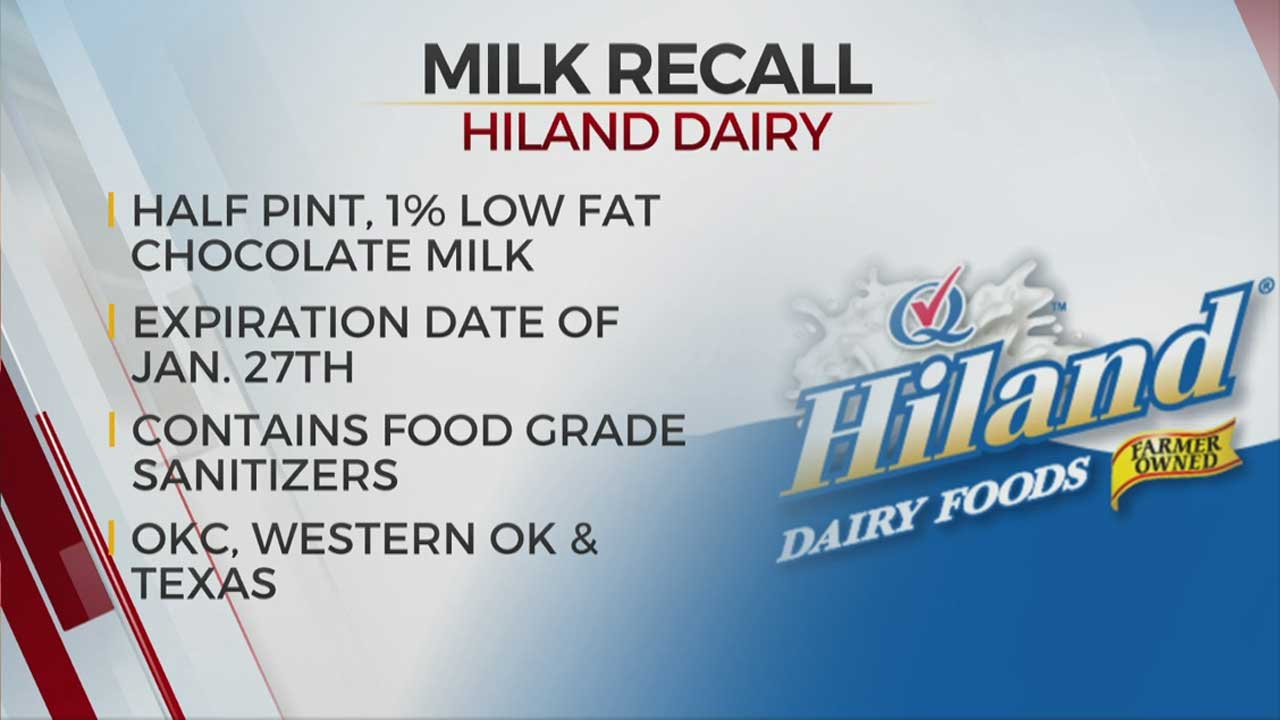 Hiland Dairy Recalls Chocolate Milk Contaminated With Food-Grade Sanitizers At Norman Facility