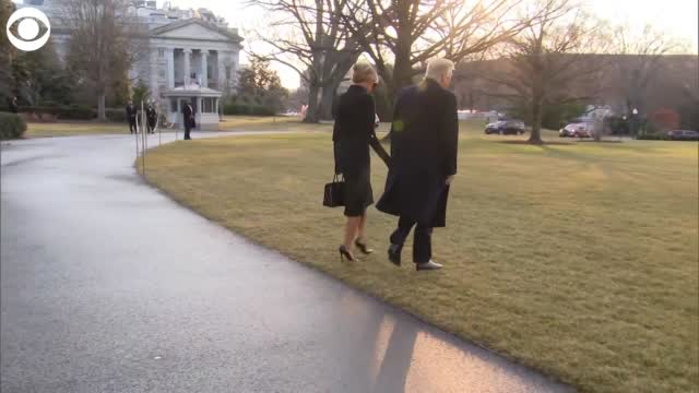 WATCH: President Trump Leaves The White House