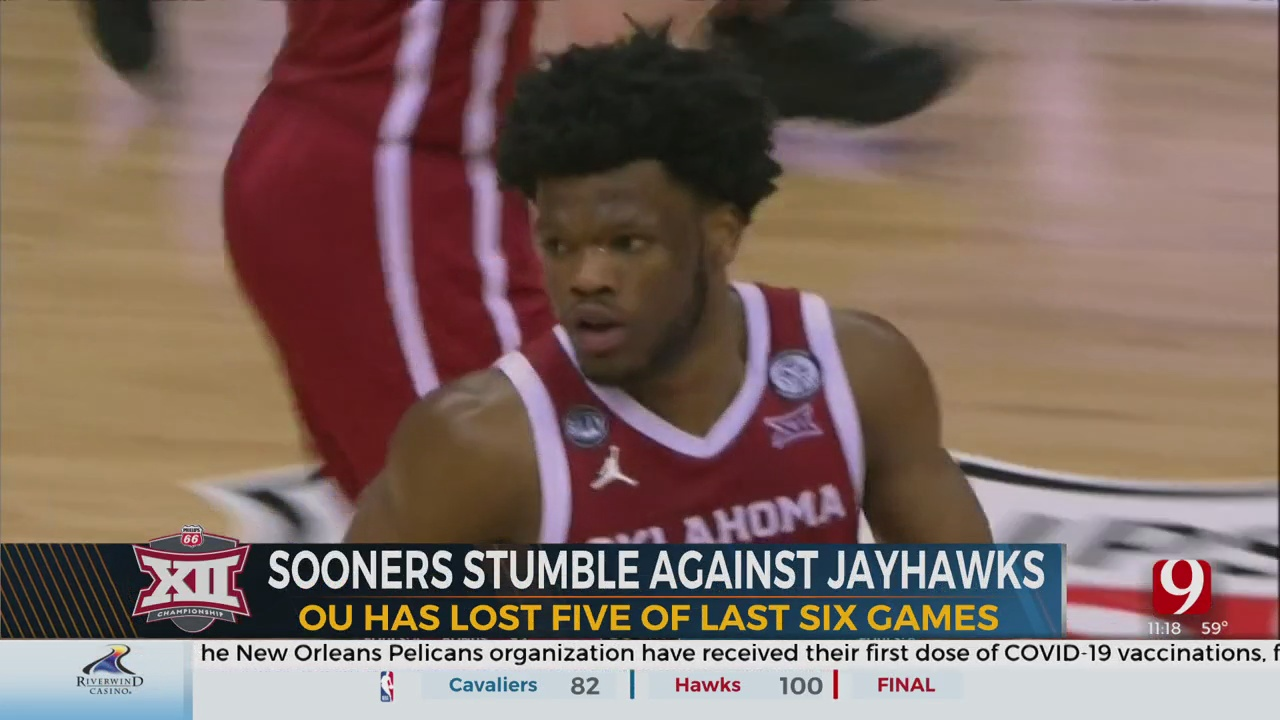 Sooners Fall To Kansas In Big 12 Tournament