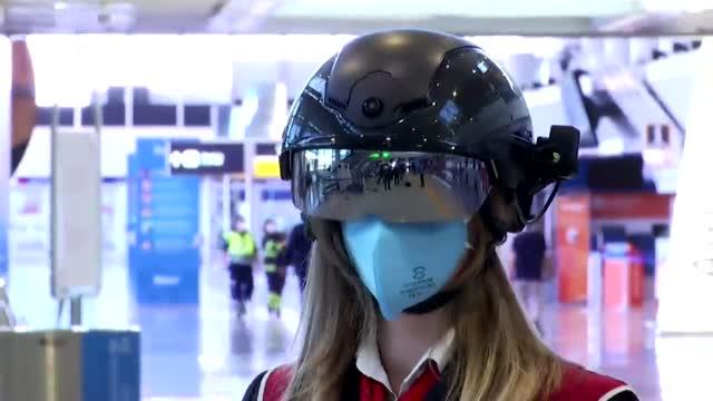 Authorities Around The Globe Using 'Smart Helmets' During Coronavirus Pandemic