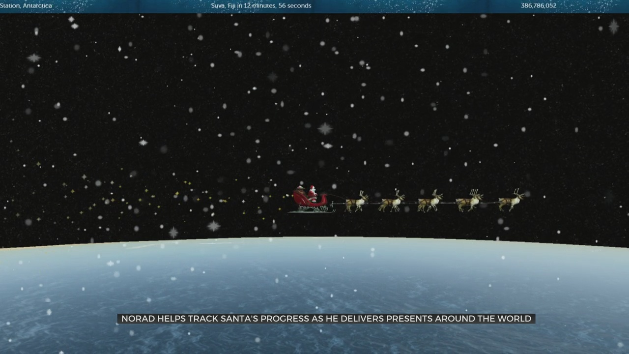 NORAD Helps Track Santa's Progress As He Delivers Presents Around The World