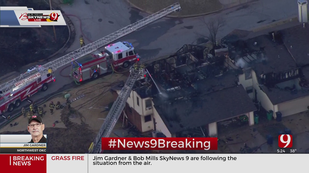 Bob Mills SkyNews 9 Updates Grass Fire In NE OKC