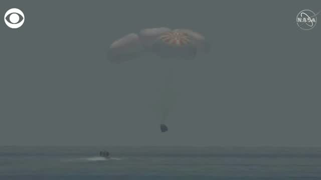WATCH: SpaceX Crew Capsule Splashed Down