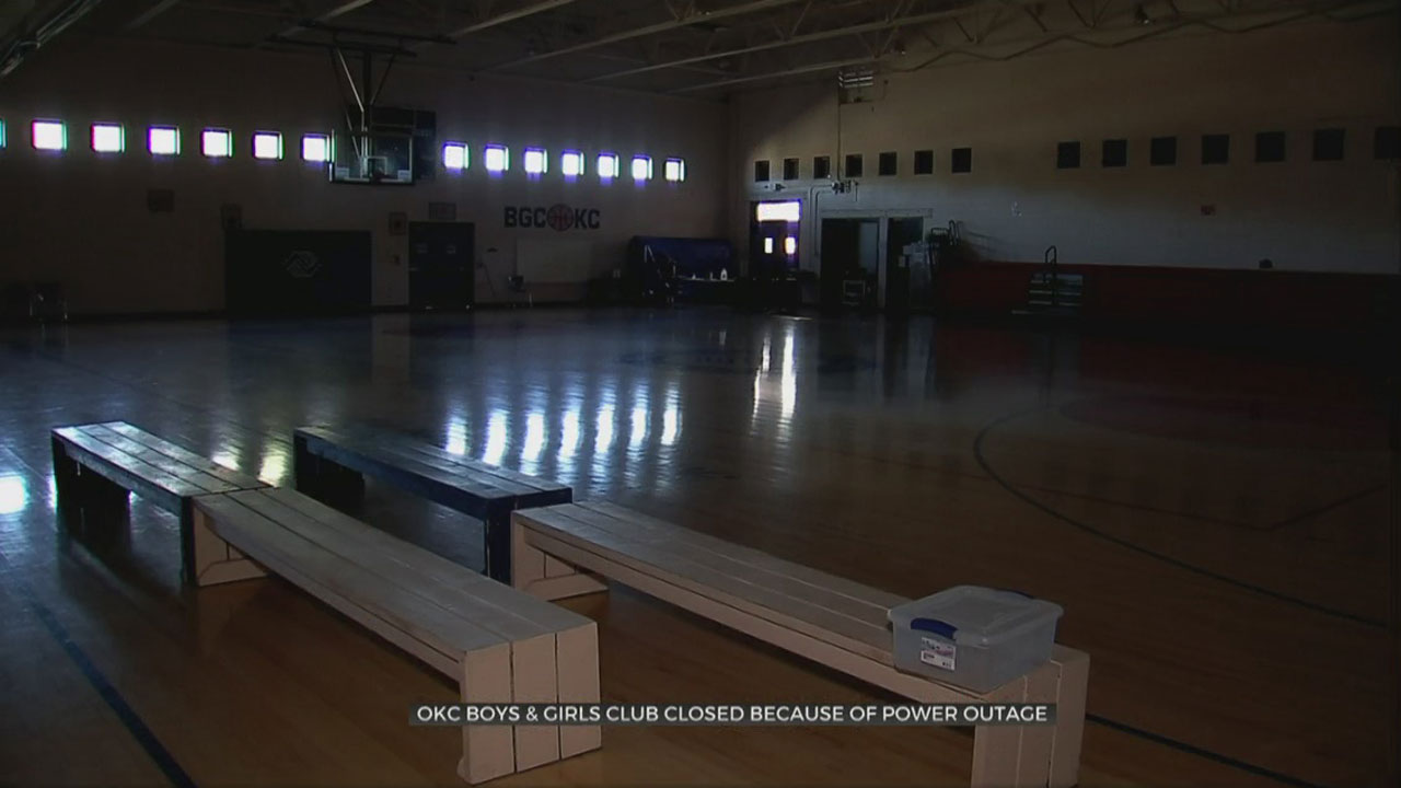 OKC Boys & Girls Club Closed Due To Power Outages