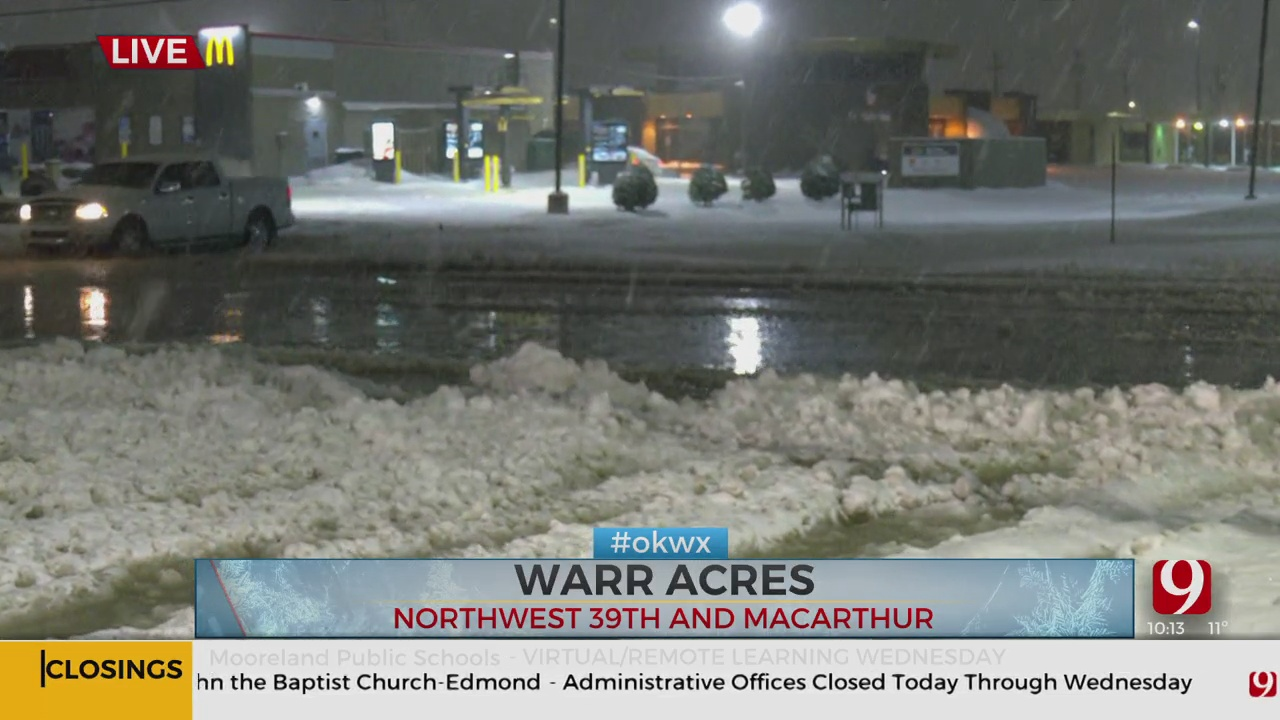 Water Main Break Causes Slushy Mess In Warr Acres