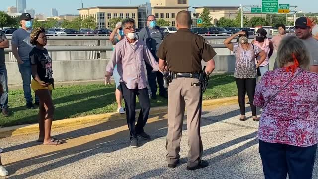 Watch: Oklahoman's Frustrated After Line Outside Of OESC Gets Cut Off
