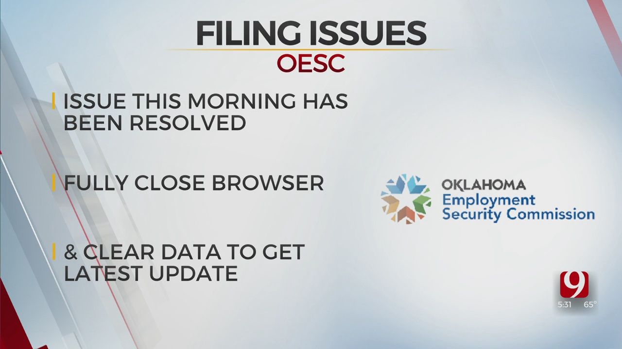 OESC Says Online Issues Have Been Resolved