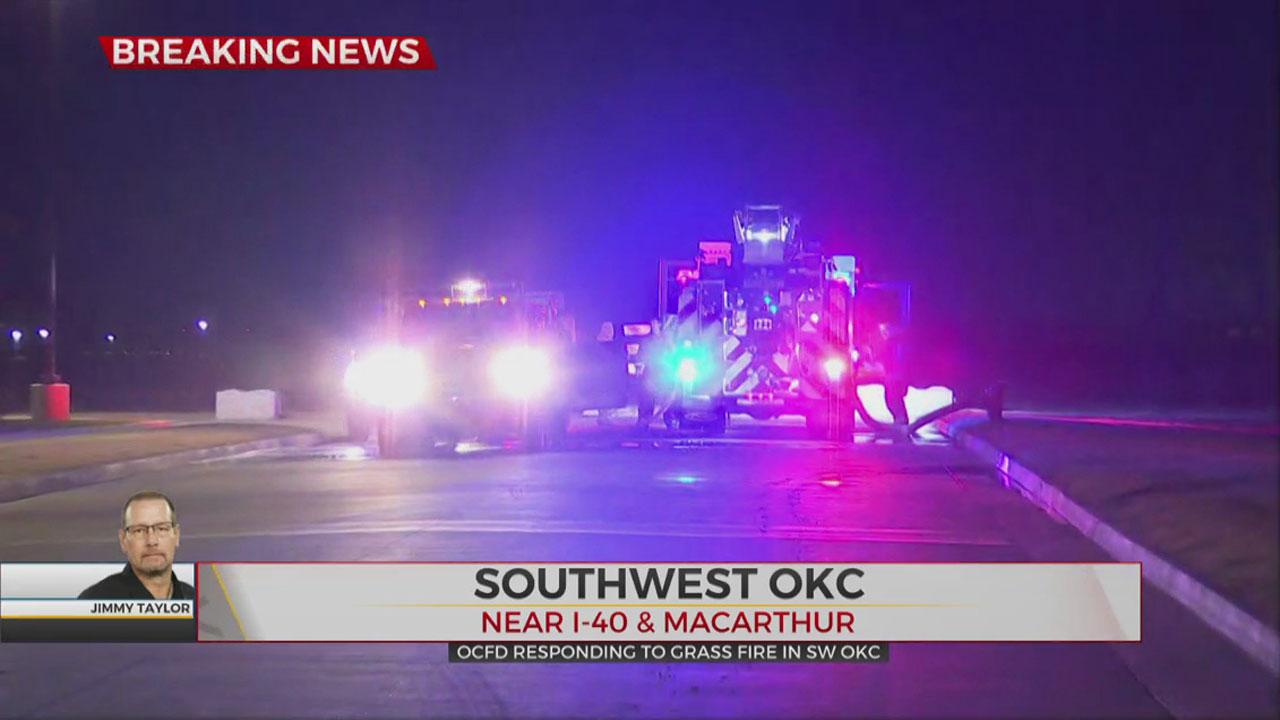 SW OKC Grass Fire