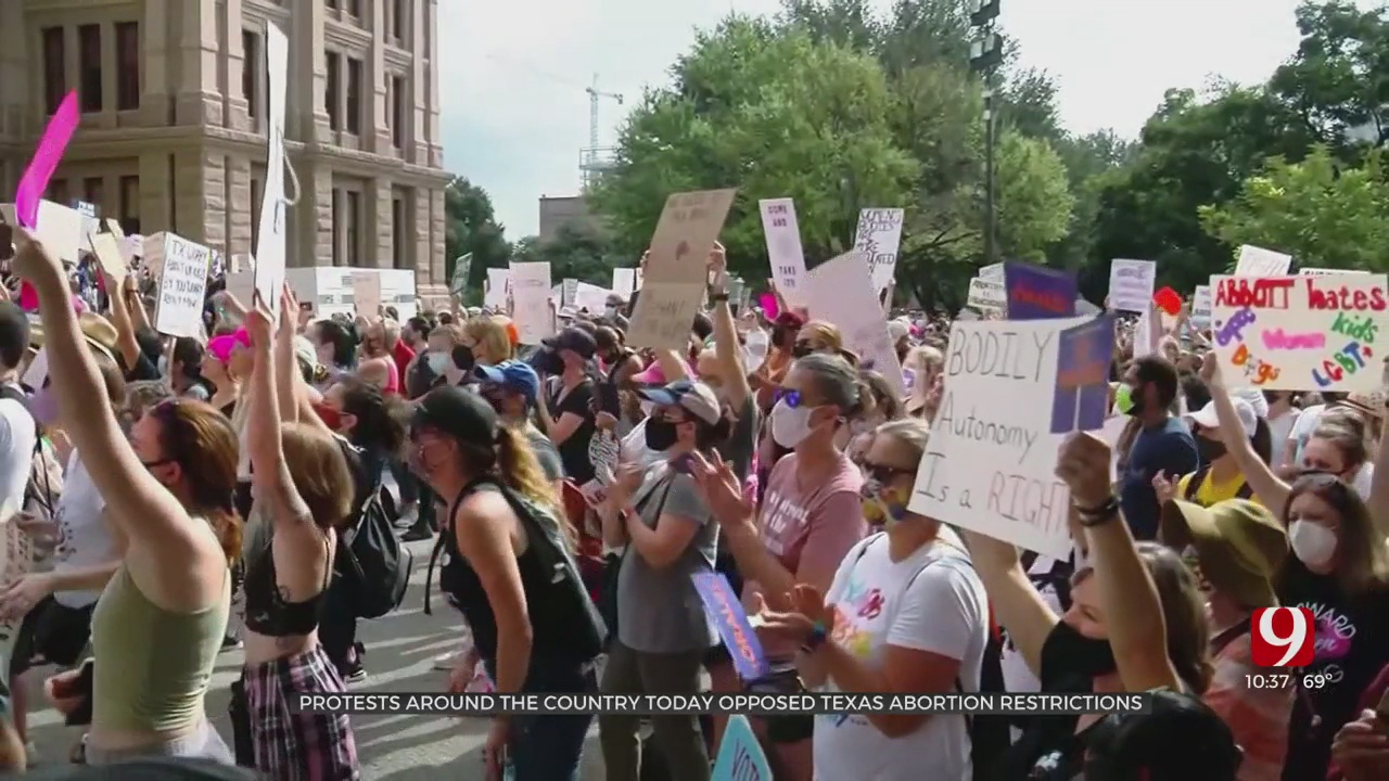 Protests Around The Country Opposing Texas Abortion Restrictions