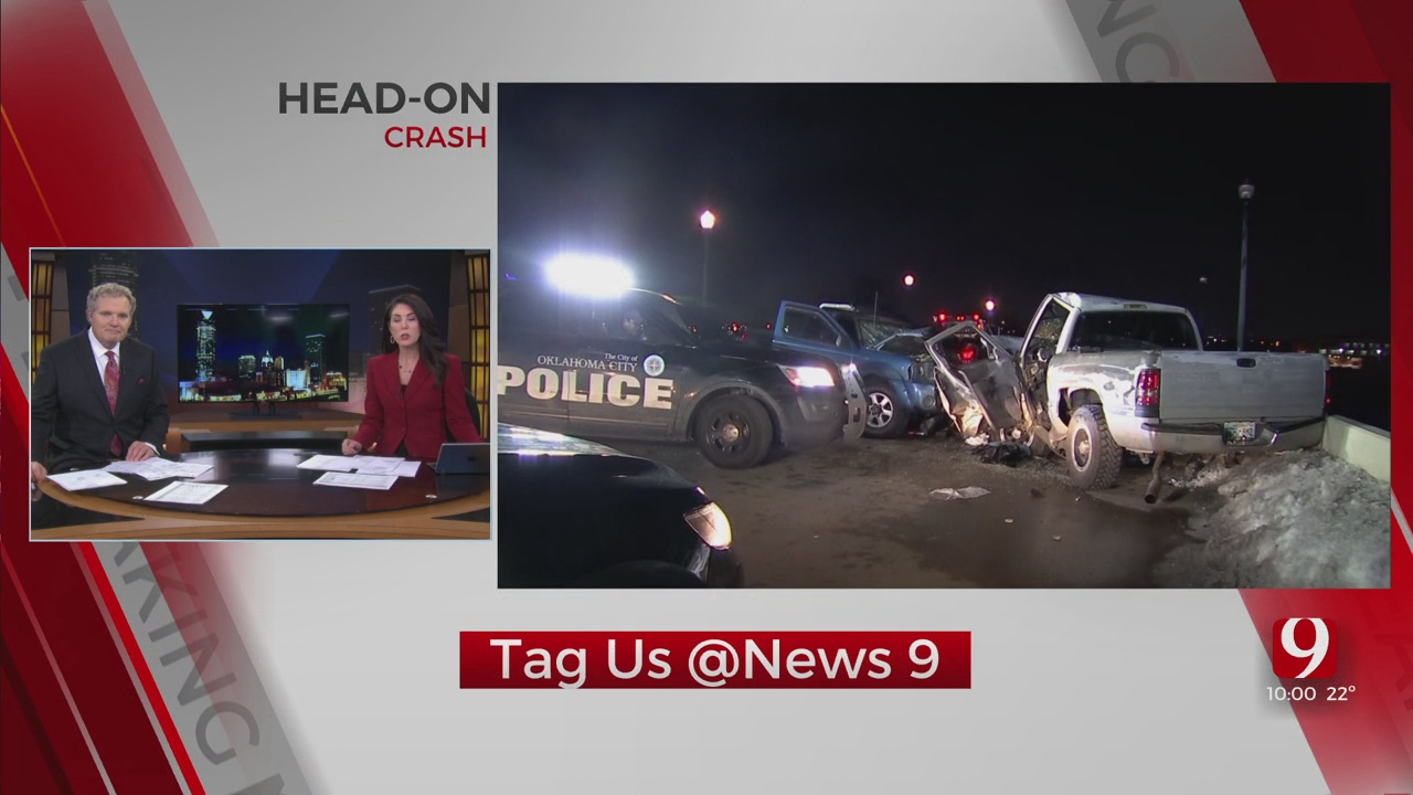 2 Taken To Hospital After Accident In Downtown OKC