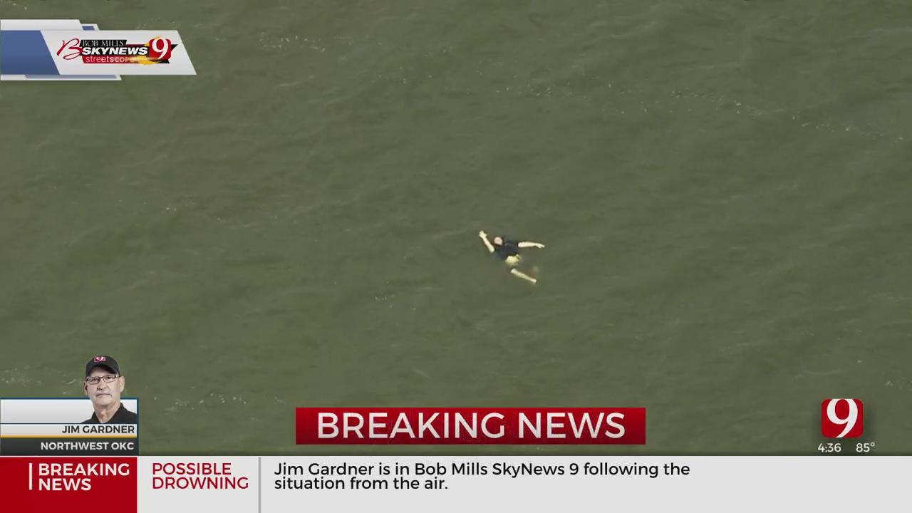 OKCFD Dive Team Responds To Rescue Effort At Lake Overholser