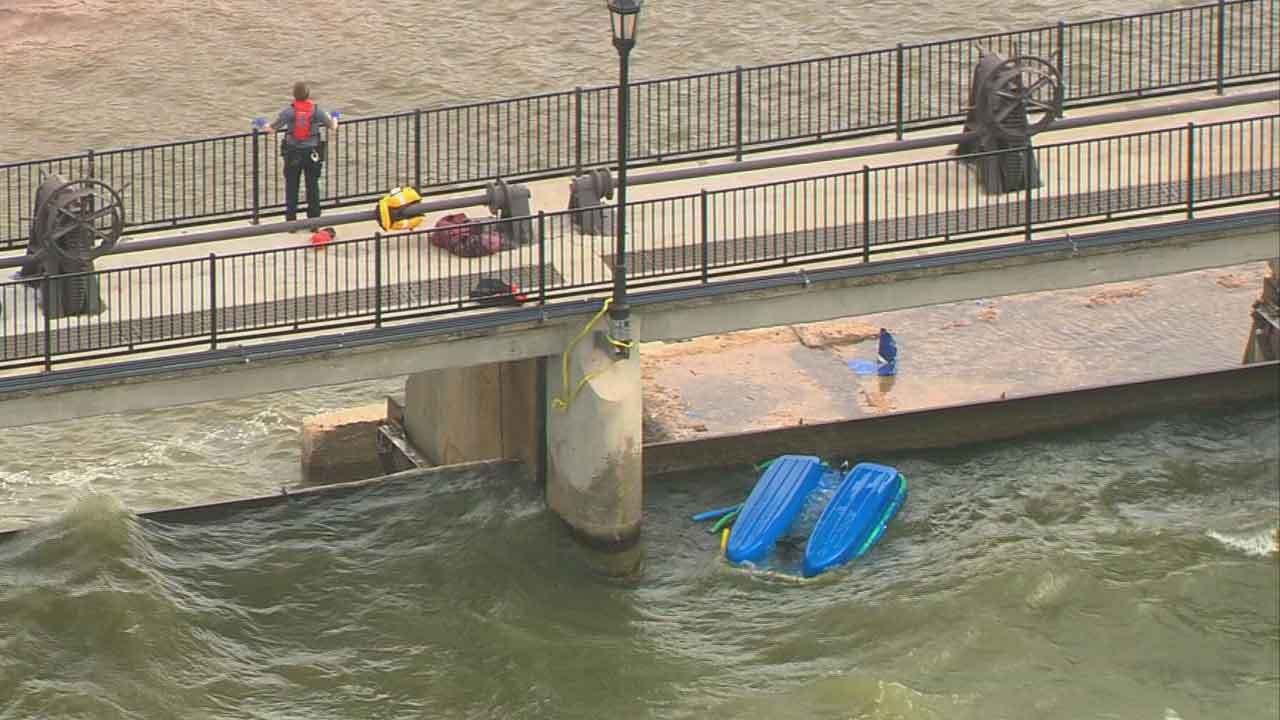 OKC Officer Attempts To Save Man, Dog From Capsized Boat At Lake Overholser, Fire Officials Say