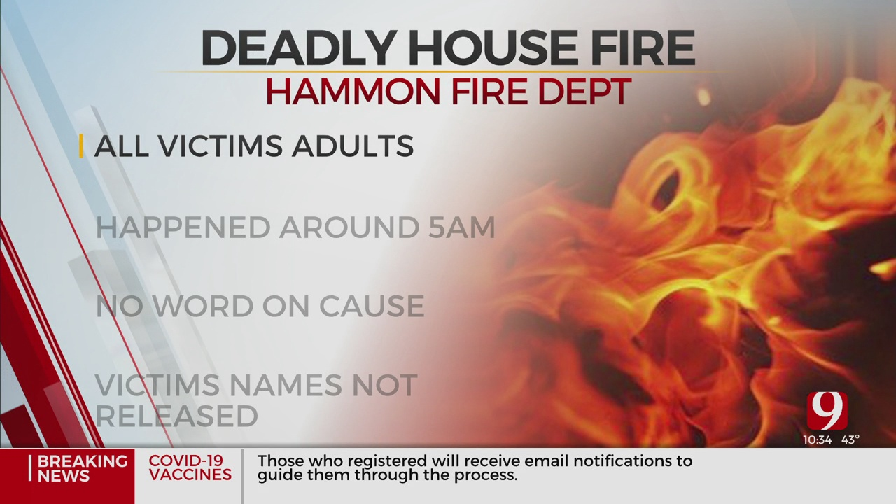 3 Adults Die In Hammon House Fire