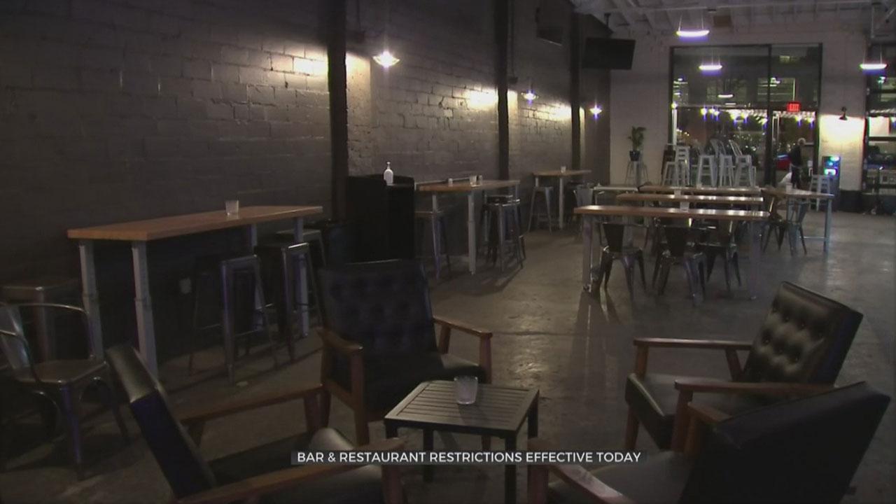 Governor Stitt's New COVID-19 Bar, Restaurant Restrictions Take Effect