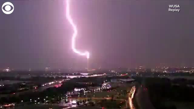 Watch: Lightning Over Washington Monument