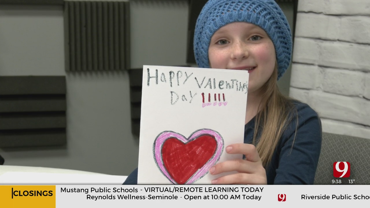 Young Girl Helps Homeless Communities Celebrate Valentine's Day