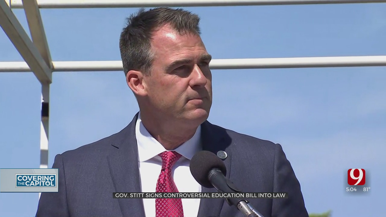 Gov. Stitt Signs Bill Limiting Race Curriculum From Kindergarten To College Into Law