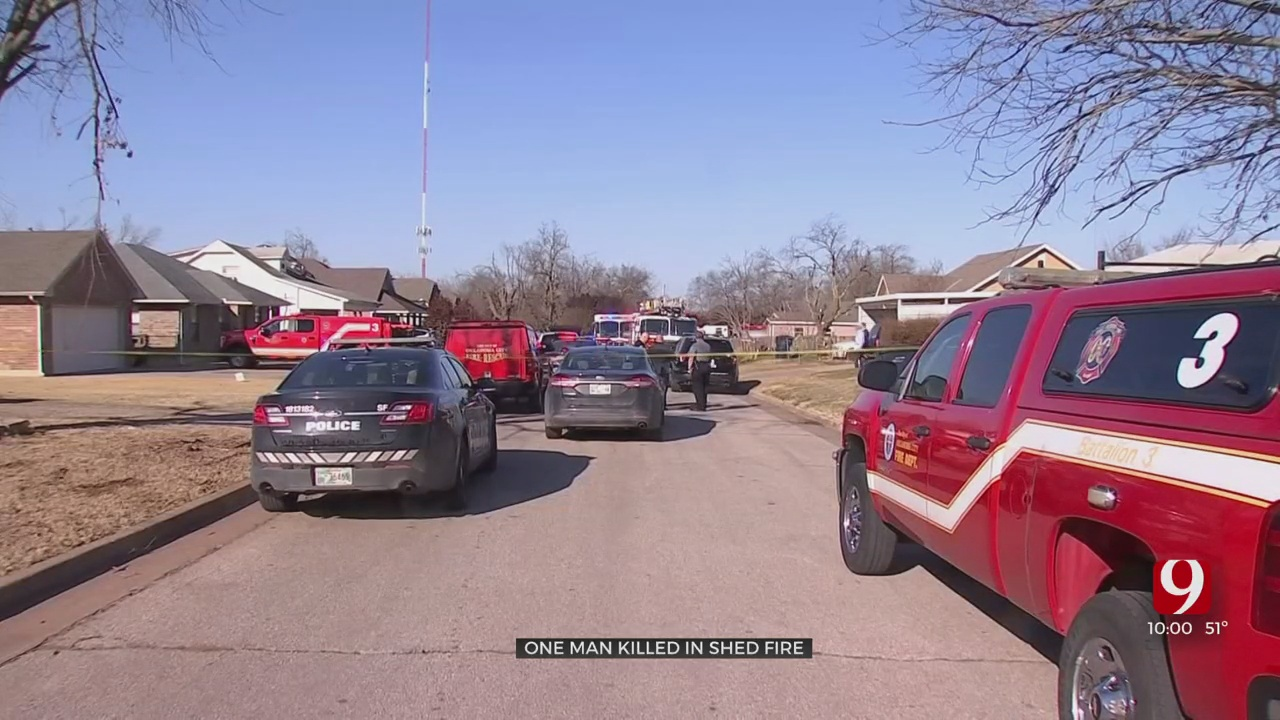 Man Found Dead After Shed Fire In Southeast OKC