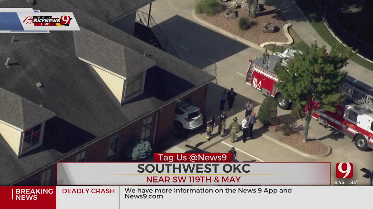 Vehicle Crashed Into Building In SW OKC, Firefighters Say