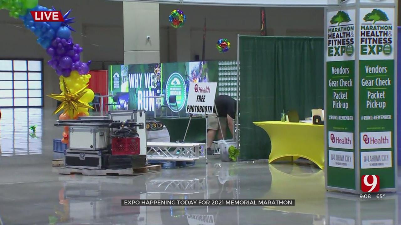Oklahoma City Convention Center Hosts Runners Ahead Of OKC Marathon (1)