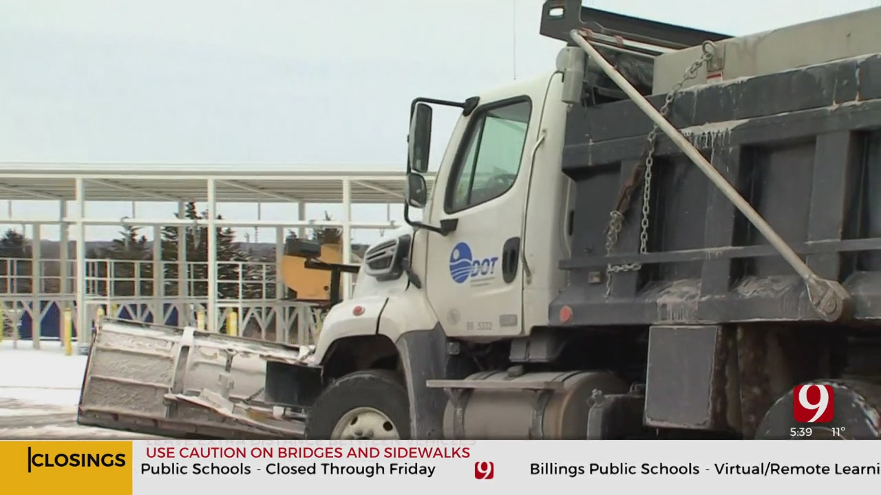 ODOT Load More Trucks As Snow Comes Into OKC